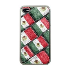 Mexican Flag Pattern Design Apple Iphone 4 Case (clear)
