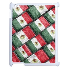 Mexican Flag Pattern Design Apple Ipad 2 Case (white)