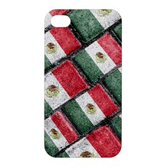Mexican Flag Pattern Design Apple Iphone 4/4s Hardshell Case
