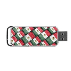 Mexican Flag Pattern Design Portable Usb Flash (two Sides)