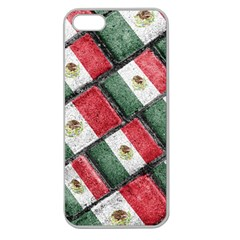 Mexican Flag Pattern Design Apple Seamless Iphone 5 Case (clear)