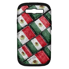 Mexican Flag Pattern Design Samsung Galaxy S Iii Hardshell Case (pc+silicone)