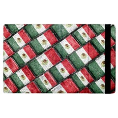 Mexican Flag Pattern Design Apple Ipad 2 Flip Case