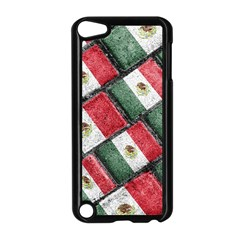 Mexican Flag Pattern Design Apple Ipod Touch 5 Case (black)