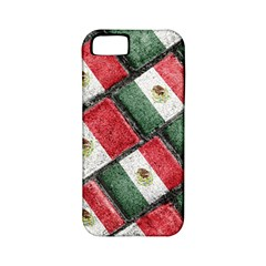 Mexican Flag Pattern Design Apple Iphone 5 Classic Hardshell Case (pc+silicone)