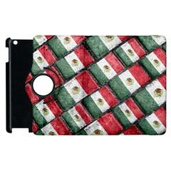 Mexican Flag Pattern Design Apple Ipad 3/4 Flip 360 Case