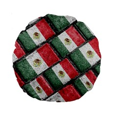 Mexican Flag Pattern Design Standard 15  Premium Round Cushions