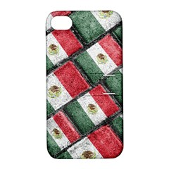 Mexican Flag Pattern Design Apple Iphone 4/4s Hardshell Case With Stand