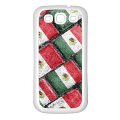 Mexican Flag Pattern Design Samsung Galaxy S3 Back Case (white)