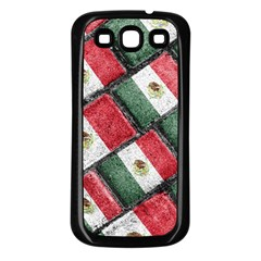 Mexican Flag Pattern Design Samsung Galaxy S3 Back Case (black)