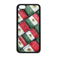 Mexican Flag Pattern Design Apple Iphone 5c Seamless Case (black)