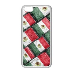 Mexican Flag Pattern Design Apple Iphone 5c Seamless Case (white)