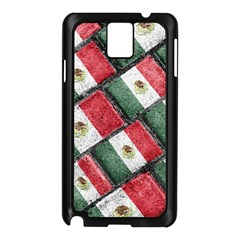 Mexican Flag Pattern Design Samsung Galaxy Note 3 N9005 Case (black)