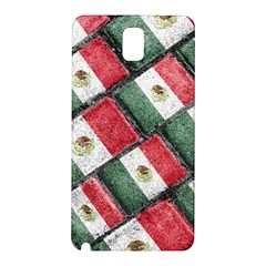 Mexican Flag Pattern Design Samsung Galaxy Note 3 N9005 Hardshell Back Case