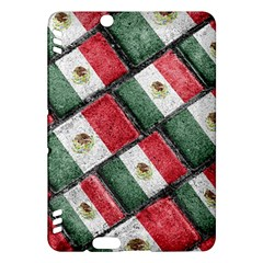 Mexican Flag Pattern Design Kindle Fire Hdx Hardshell Case