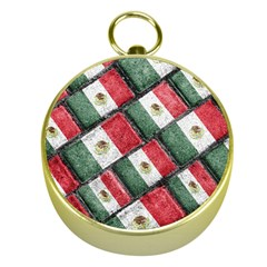 Mexican Flag Pattern Design Gold Compasses