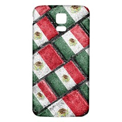 Mexican Flag Pattern Design Samsung Galaxy S5 Back Case (white)