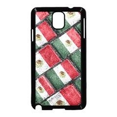 Mexican Flag Pattern Design Samsung Galaxy Note 3 Neo Hardshell Case (black)