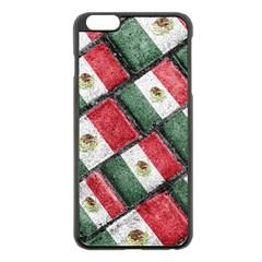Mexican Flag Pattern Design Apple Iphone 6 Plus/6s Plus Black Enamel Case