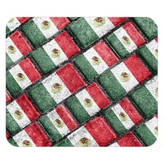 Mexican Flag Pattern Design Double Sided Flano Blanket (small)
