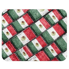 Mexican Flag Pattern Design Double Sided Flano Blanket (medium)