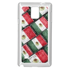 Mexican Flag Pattern Design Samsung Galaxy Note 4 Case (white)