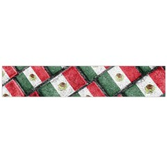 Mexican Flag Pattern Design Large Flano Scarf