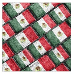 Mexican Flag Pattern Design Large Satin Scarf (square)