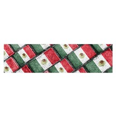 Mexican Flag Pattern Design Satin Scarf (oblong)