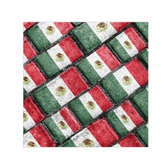 Mexican Flag Pattern Design Small Satin Scarf (square)