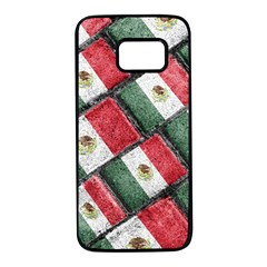 Mexican Flag Pattern Design Samsung Galaxy S7 Black Seamless Case