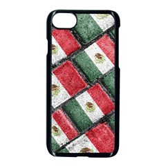 Mexican Flag Pattern Design Apple Iphone 7 Seamless Case (black)