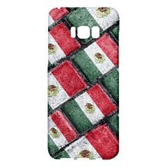 Mexican Flag Pattern Design Samsung Galaxy S8 Plus Hardshell Case