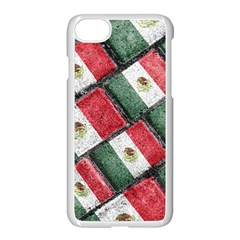 Mexican Flag Pattern Design Apple Iphone 8 Seamless Case (white)