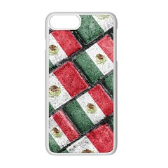 Mexican Flag Pattern Design Apple Iphone 8 Plus Seamless Case (white)