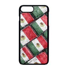 Mexican Flag Pattern Design Apple Iphone 8 Plus Seamless Case (black)