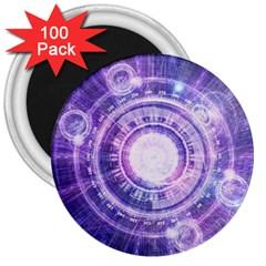 Blue Fractal Alchemy Hud For Bending Hyperspace 3  Magnets (100 Pack)