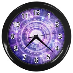Blue Fractal Alchemy Hud For Bending Hyperspace Wall Clocks (black)