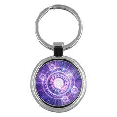 Blue Fractal Alchemy Hud For Bending Hyperspace Key Chains (round)