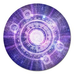 Blue Fractal Alchemy Hud For Bending Hyperspace Magnet 5  (round)