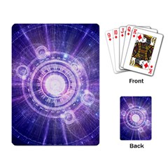 Blue Fractal Alchemy Hud For Bending Hyperspace Playing Card