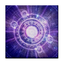 Blue Fractal Alchemy Hud For Bending Hyperspace Face Towel