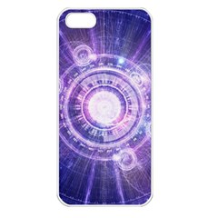 Blue Fractal Alchemy Hud For Bending Hyperspace Apple Iphone 5 Seamless Case (white)