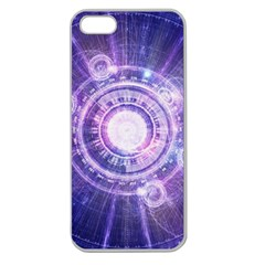 Blue Fractal Alchemy Hud For Bending Hyperspace Apple Seamless Iphone 5 Case (clear)