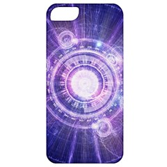 Blue Fractal Alchemy Hud For Bending Hyperspace Apple Iphone 5 Classic Hardshell Case