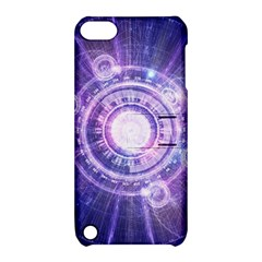 Blue Fractal Alchemy Hud For Bending Hyperspace Apple Ipod Touch 5 Hardshell Case With Stand