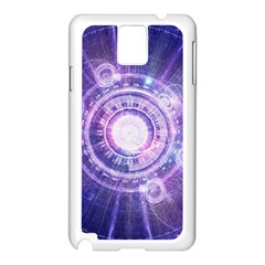 Blue Fractal Alchemy Hud For Bending Hyperspace Samsung Galaxy Note 3 N9005 Case (white)