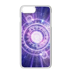 Blue Fractal Alchemy Hud For Bending Hyperspace Apple Iphone 8 Plus Seamless Case (white)