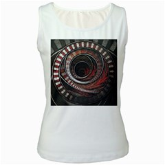 The Thousand And One Rings Of The Fractal Circus Women s White Tank Top