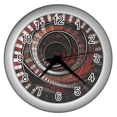 The Thousand And One Rings Of The Fractal Circus Wall Clocks (silver)